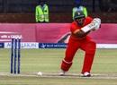 Brian Chari pushes one through the off side, Zimbabwe v West Indies, tri-series, Bulawayo, November 25, 2016