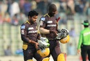 Darren Sammy and Umar Akmal forged a match winning partnership adding 70 in 37 balls, Rangpur Riders v Rajshahi Kings, Bangladesh Premier League, Dhaka, November 25, 2016