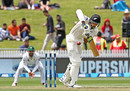 Jeet Raval shapes to play the ball on the leg side, New Zealand v Pakistan, 2nd Test, Hamilton, 2nd day, November 26, 2016