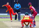 Sean Williams bowls to Jonathan Carter, Zimbabwe v West Indies, 6th tri-series ODI, Bulawayo, November 25, 2016