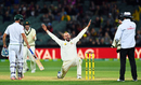 Nathan Lyon is thrilled after trapping Kyle Abbott leg before, Australia v South Africa, 3rd Test, Adelaide, 3rd day, November 26, 2016