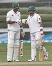 Sohail Khan and Babar Azam punch gloves, New Zealand v Pakistan, 2nd Test, Hamilton, 3rd day, November 27, 2016
