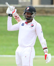 Trinidad & Tobago opener Kyle Hope celebrates his fifty, Trinidad & Tobago v Leeward Islands, WICB Professional Cricket League Regional 4 Day Tournament, 2nd day, November 26, 2016