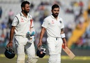 Cheteshwar Pujara and Virat Kohli added 75 runs for the third wicket, India v England, 3rd Test, Mohali, 2nd day, November 27, 2016