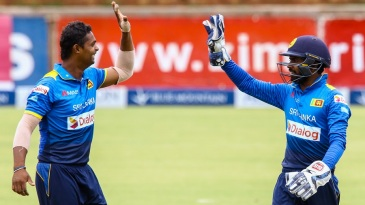 Asela Gunaratne was once again among the wickets