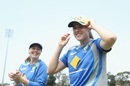Amanda-Jane Wellington applauds as Tahlia McGrath of Australia receives her debut cap, Australia v South Africa, 4th women's ODI, Coffs Harbour, November 27, 2016