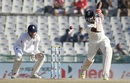 R Ashwin punches through the off side, India v England, 3rd Test, Mohali, 3rd day, November 28, 2016