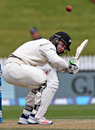 Henry Nicholls ducks under a bouncer, New Zealand v Pakistan, 2nd Test, Hamilton, 4th day, November 28, 2016