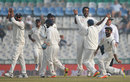Jayant Yadav removed Jos Buttler in his first over of the morning, India v England, 3rd Test, Mohali, 4th day, November 29, 2016