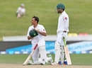 Younis Khan waits for the third umpire's decision, New Zealand v Pakistan, 2nd Test, Hamilton, 5th day, November 29, 2016