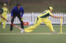 Grace Harris completes Lara Goodall's run-out, Australia v South Africa, 5th women's ODI, Coffs Harbour, November 29, 2016