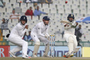 Parthiv Patel rocks back for a pull, India v England, 3rd Test, Mohali, 4th day, November 29, 2016