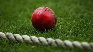 A ball by the boundary rope