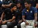Dinesh Chandimal, Upul Tharanga and Angelo Mathews congregate for a press conference, Colombo, November 29, 2016
