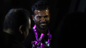 Upul Tharanga arrives in Colombo after leading Sri Lanka to a win in the tri-series