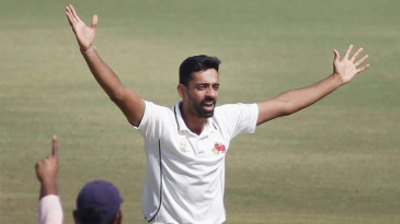 Dhawal Kulkarni celebrates a wicket