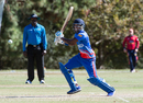 Kamau Leverock plays through the off side, Bermuda v Jersey, ICC World Cricket League Division Four, Los Angeles, November 2, 2016