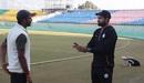 Irfan Pathan chats with Ishwar Pandey, Baroda v Madhya Pradesh, Ranji Trophy 2016-17, Dharamsala, December 2, 2016