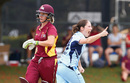 Rene Farrell dismissed Beth Mooney on the first ball of the match, Queensland v New South Wales, WNCL 2016-17 final, Brisbane, December 3, 2016
