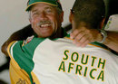 Ray Jennings celebrates South Africa's win in the dressing room, West Indies v South Africa, 2nd Test, Port-of-Spain, 5th day, April 12, 2005