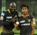 Kesrick Williams points to debutant Afif Hossain who finished with five wickets, Chittagong Vikings v Rajshahi Kings, Bangladesh Premier League, Mirpur, November 3, 2016