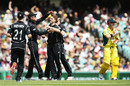 Debutant Lockie Ferguson bowled David Warner in his first over, Australia v New Zealand, 1st ODI, Sydney, December 4, 2016