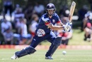 Rob Nicol hits one through off side, Auckland v Otago, Super Smash, Auckland, December 4, 2016