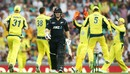 Tom Latham chopped on for 2, Australia v New Zealand, 1st ODI, Sydney, December 4, 2016