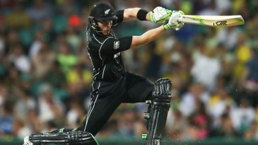 Martin Guptill lays into a sublime cover drive