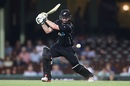 Colin Munro punches through cover, Australia v New Zealand, 1st ODI, Sydney, December 4, 2016
