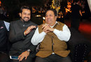 Anurag Thakur and Rajiv Shukla share a laugh at a cultural event, Delhi, December 1, 2016