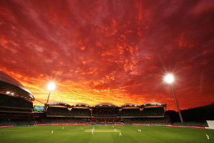 The Adelaide Oval at sunset