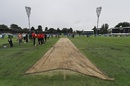 A light shower delayed the toss by 30 minutes, Australia v New Zealand, 2nd ODI, Canberra, December 6, 2016