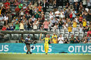 David Warner walks off after scoring his sixth ODI ton this year, Australia v New Zealand, 2nd ODI, Canberra, December 6, 2016