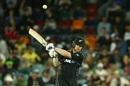 James Neesham swats the ball away, Australia v New Zealand, 2nd ODI, Canberra, December 6, 2016