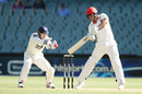 Sam Raphael punches off the back foot during his 61, South Australia v New South Wales, 2nd day, Sheffield Shield 2016-17, Adelaide, December 6, 2016
