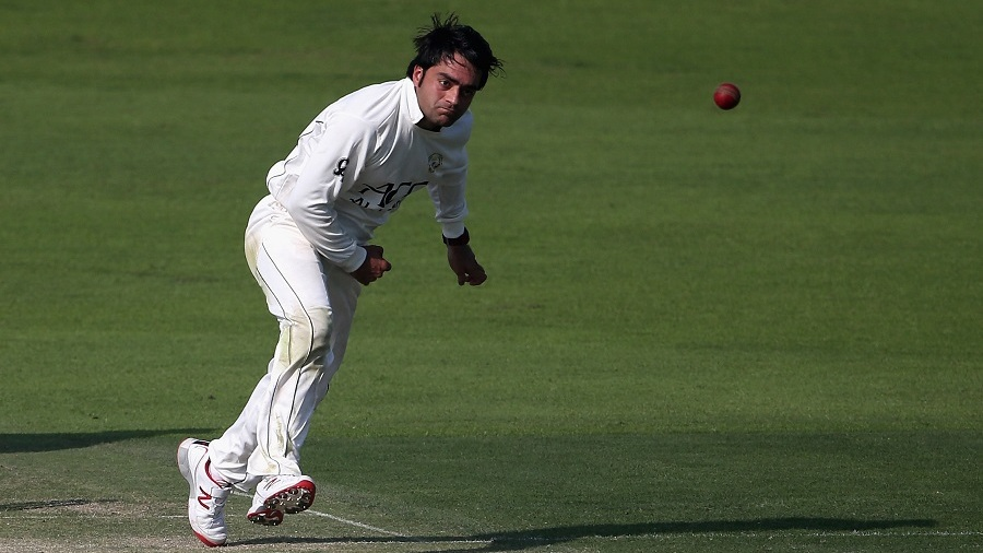 Rashid Khan's googlies got him the first three England Lions wickets