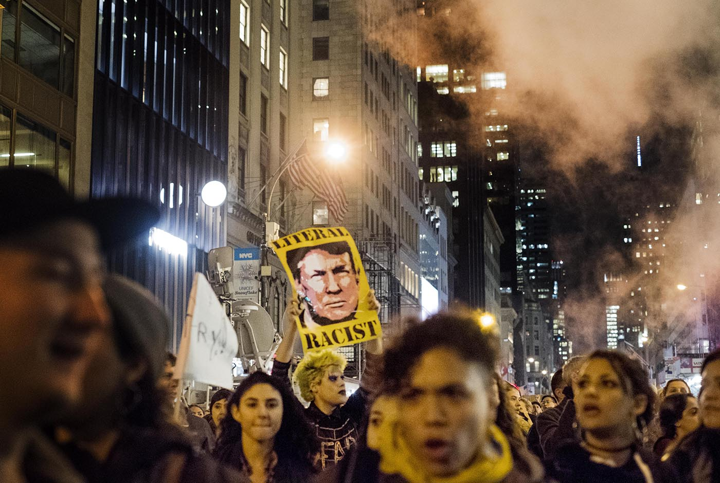 An anti-Donald Trump protest