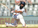 Moeen Ali made 50 before falling to a top-edged sweep, India v England, 4th Test, Mumbai, 1st day, December 8, 2016