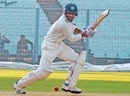 Nitin Saini drives en route to his 13th first-class hundred, Haryana v Tripura, Ranji Trophy 2016-17, 2nd day, Kolkata, December 8, 2016