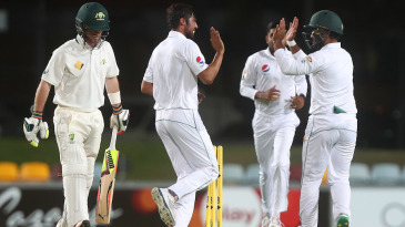 Mohammad Amir removed Jimmy Peirson on the first ball