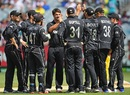 Colin de Grandhomme is mobbed by his team-mates, Australia v New Zealand, 3rd ODI, Melbourne, December 9, 2016