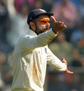 Virat Kohli remonstrates in the field, India v England, 4th Test, Mumbai, 2nd day, December 9, 2016