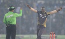 Darren Sammy celebrates after Mosaddek Hossain is given out, Dhaka Dynamites v Rajshahi Kings, Final, Bangladesh Premier League, Dhaka, December 9, 2016