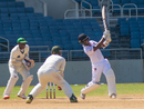 Jason Mohammed attacks during his unbeaten 91, Jamaica v Trinidad & Tobago, WICB Professional Cricket League Regional 4 Day Tournament, Kingston, 2nd day, December 9, 2016