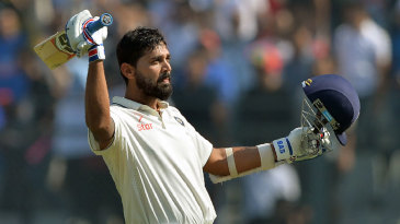 M Vijay went to his eighth Test century