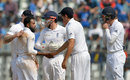 Adil Rashid broke the century stand when he removed M Vijay, India v England, 4th Test, Mumbai, 3rd day, December 10, 2016