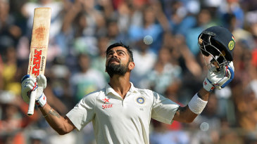 Virat Kohli reached his third double hundred of the year