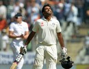 Jayant Yadav celebrates his maiden Test ton, India v England, 4th Test, Mumbai, 4th day, December 11, 2016