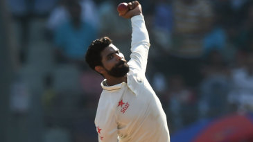 Ravindra Jadeja picked up his 100th Test wicket when he removed Alastair Cook